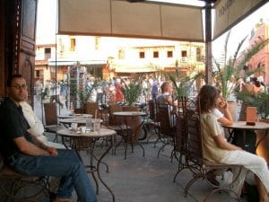 One of the many cafes, where I had a comfortable coffee break.