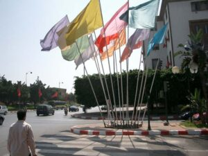flags on the streets of Rabat