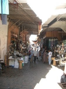One of many alleyways in the older part of the Medina.