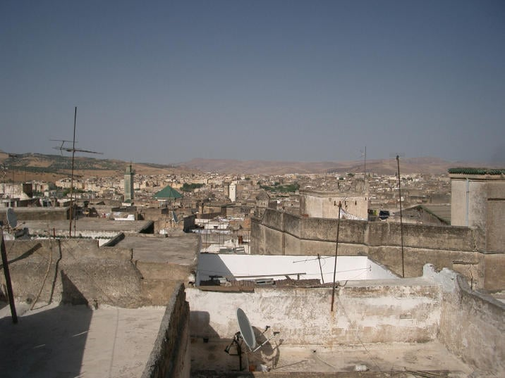 View of Fes from rooftop