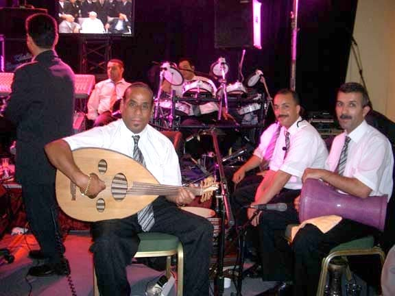 Moroccan orhestra with oud player