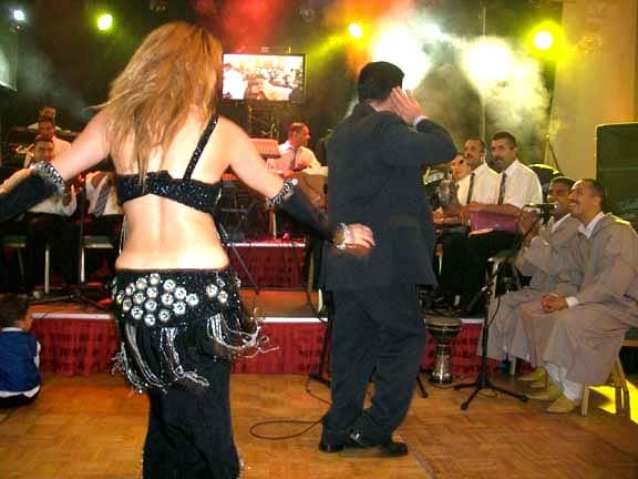 Belly dancer at wedding