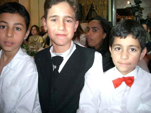 Young boys at wedding